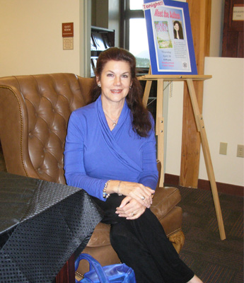 Mara Purl speaks at Rampart Library in Woodland Park, Colorado
