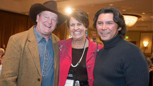 Craig Johnson, Margaret Coel & Lou Diamond Phillips