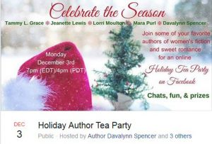Author Holiday Tea Party on Facebook
