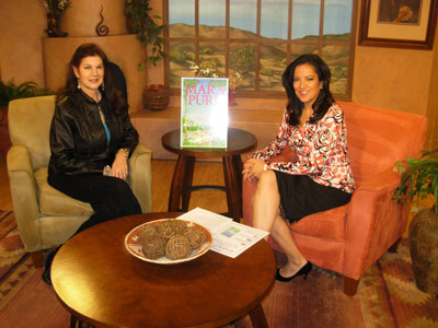 Mara Purl interviewed on Good Day New Mexico with host Irene Estrada